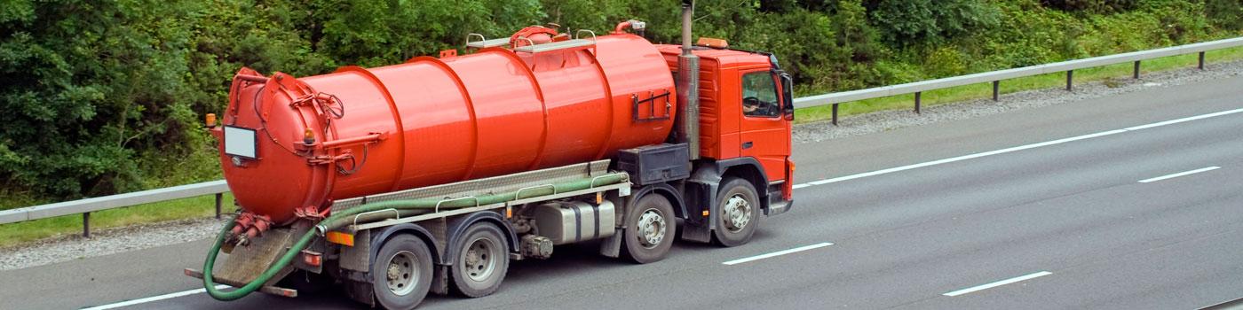Oil Truck in Transit